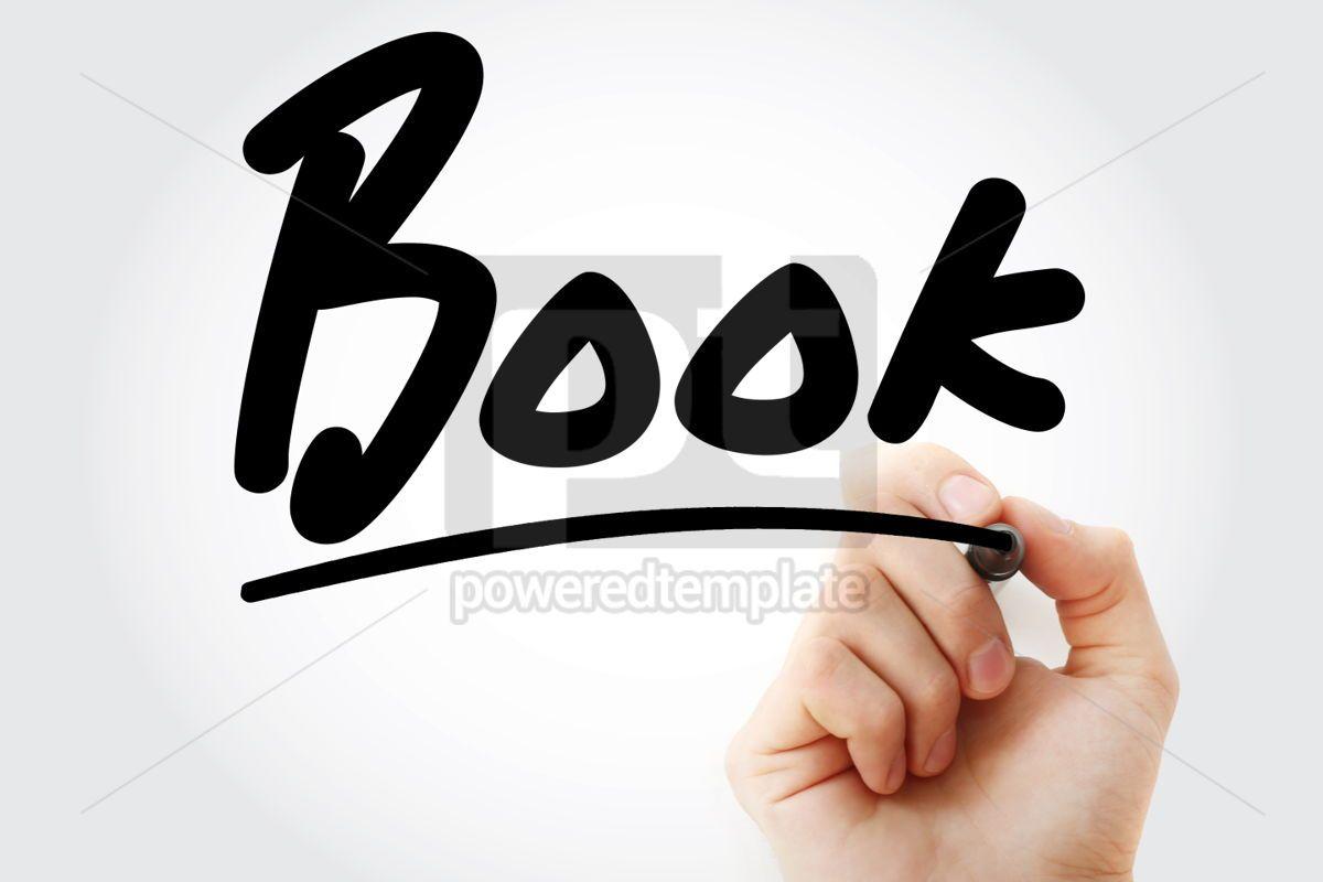 Hand writing Book with marker, 01749, Business — PoweredTemplate.com