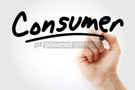 Business: Foto - mão escrevendo consumidor com marcador #01752
