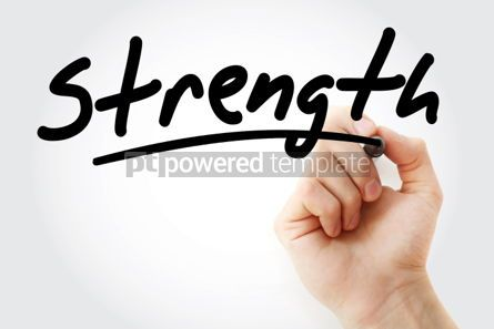 Business: Hand writing Strength with marker #01754