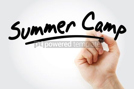 Business: Hand writing Summer Camp with marker #01755