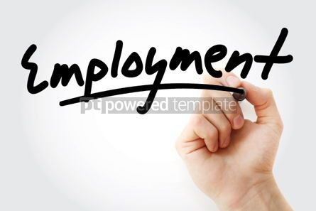 Business: Hand writing Employment with marker #01763