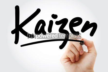 Business: Foto - mão escrevendo kaizen com marcador #01765