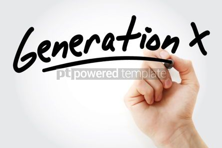 Business: Hand writing Generation X with marker #01766