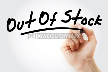 Business: Hand writing Out Of Stock with marker #01767