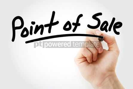 Business: Hand writing Point of Sale with marker #01770