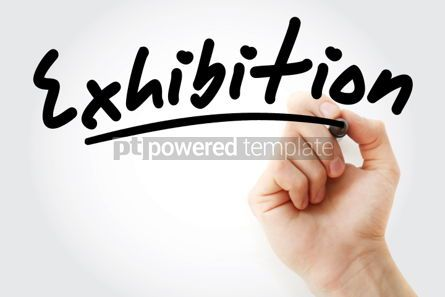 Business: Hand writing Exhibition with marker #01772