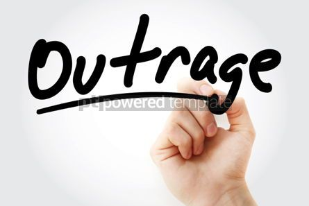 Business: Hand writing Outrage with marker #01778