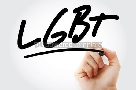 Business: Hand writing LGBT with marker #01780