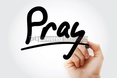 Business: Hand writing PRAY with marker #01781