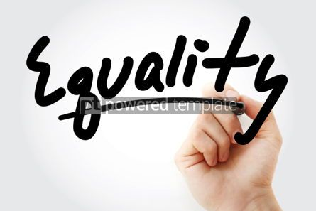 Business: Hand writing Equality with marker #01783
