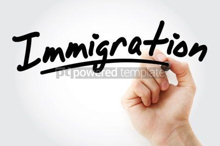 Business: Hand writing Immigration with marker #01786