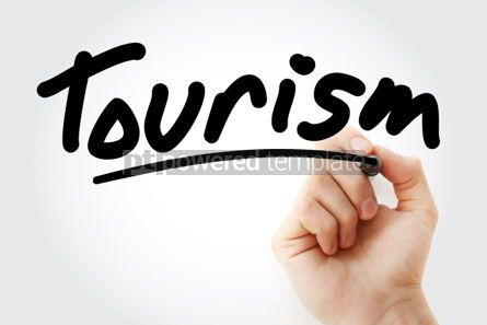 Business: Hand writing Tourism with marker #01791