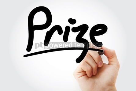 Business: Hand writing Prize with marker #01796
