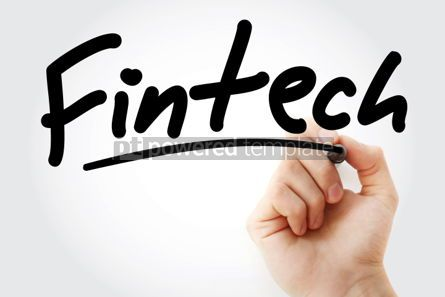 Business: Hand writing Fintech with marker #01798