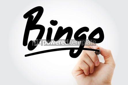 Business: Hand writing Bingo with marker #01801