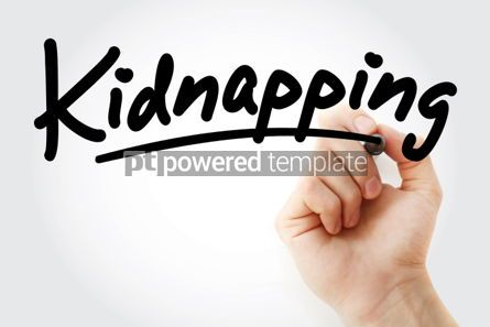 Business: Hand writing Kidnapping with marker #01808