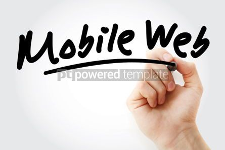 Business: Hand writing Mobile web with marker #01809