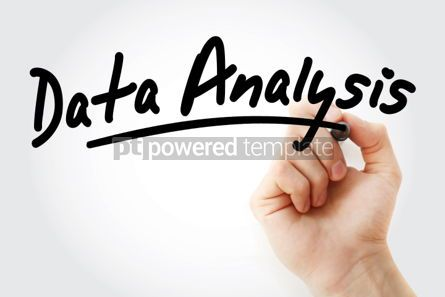 Business: Hand writing data analysis with marker #01810