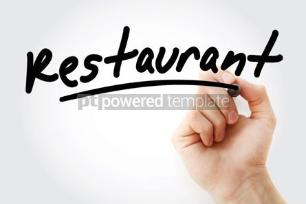 Business: Hand writing RESTAURANT with marker #01811