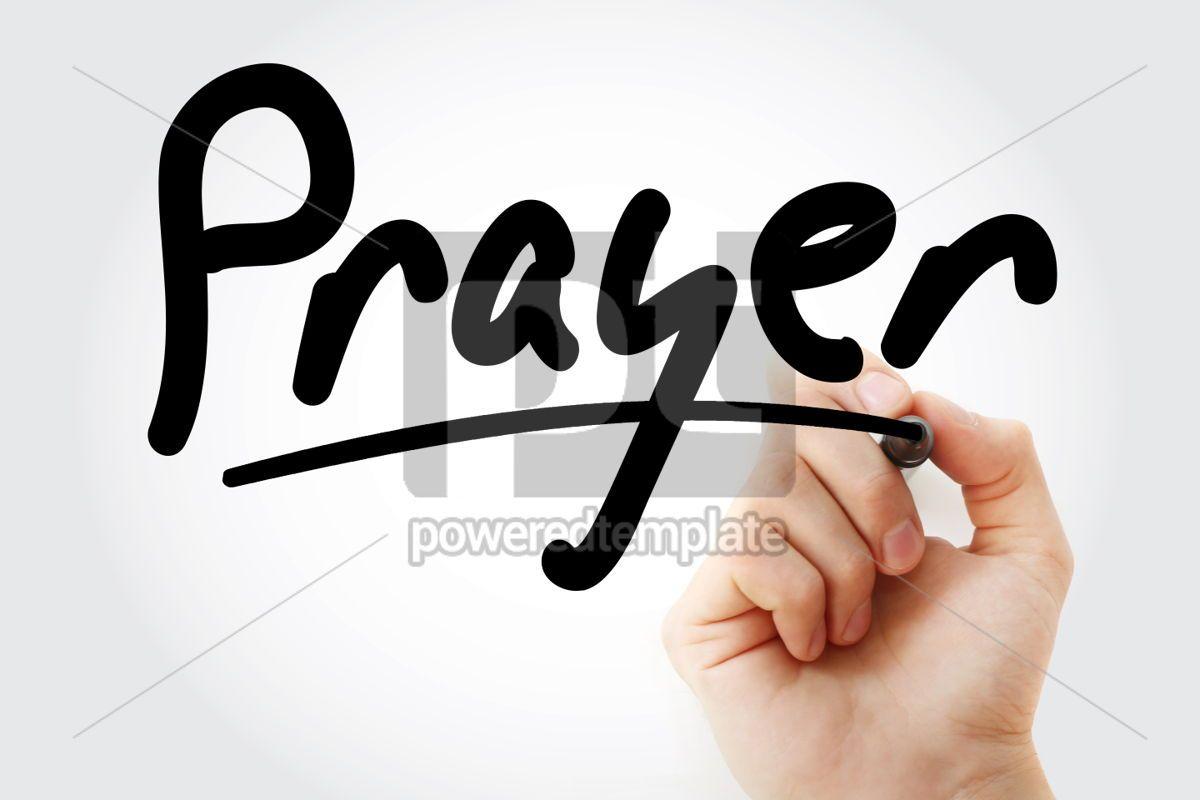 Hand writing Prayer with marker, 01813, Business — PoweredTemplate.com