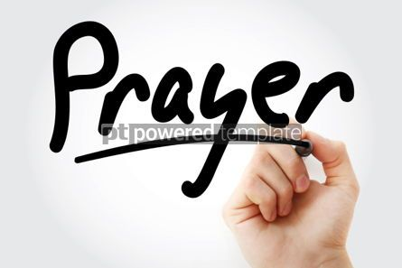 Business: Hand writing Prayer with marker #01813