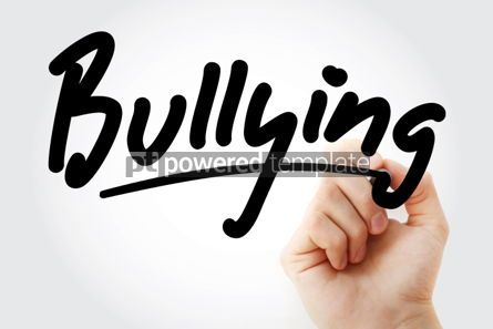 Business: Hand writing Bullying with marker #01814