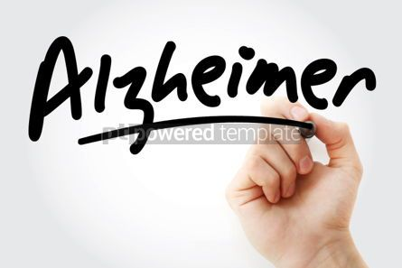 Business: Hand writing Alzheimer with marker #01816