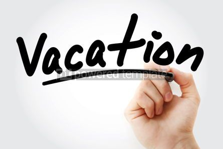Business: Hand writing Vacation with marker #01819