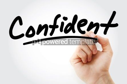 Business: Hand writing Confident with marker #01825