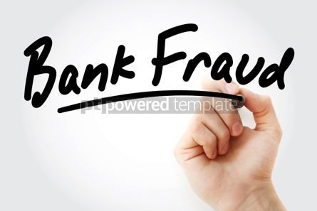 Business: Hand writing Bank fraud with marker #01826