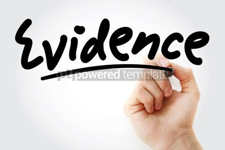 Business: Hand writing Evidence with marker #01828