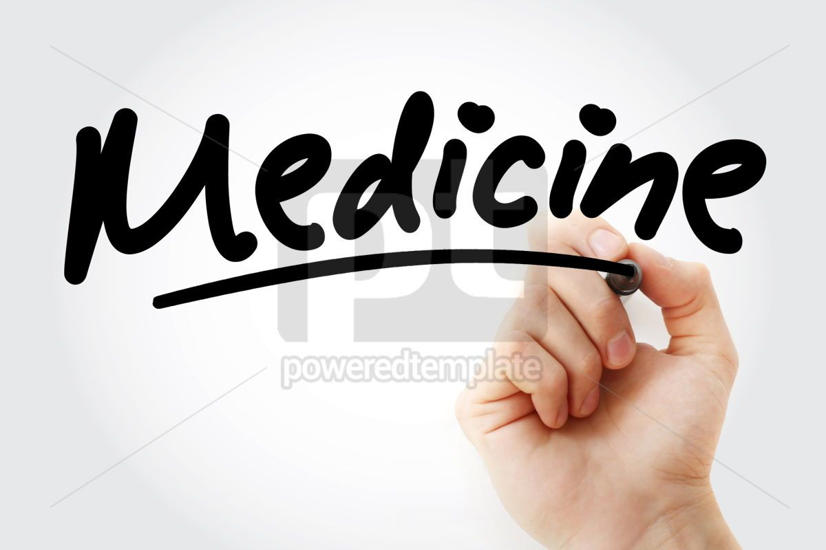 Hand writing Medicine with marker, 01833, Business — PoweredTemplate.com