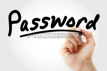 Business: Hand writing PASSWORD with marker #01835