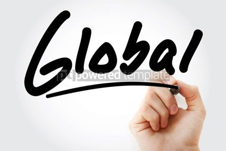 Business: Hand writing Global with marker #01851