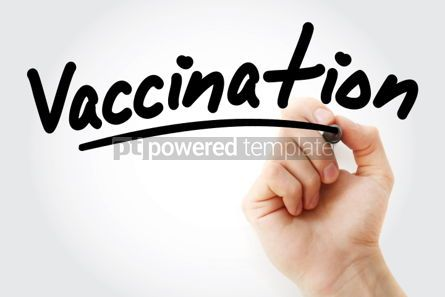 Business: Hand writing Vaccination with marker #01852
