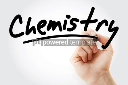 Business: Hand writing Chemistry with marker #01855