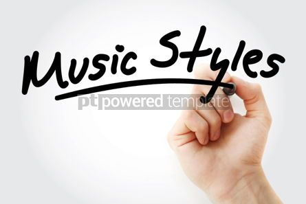 Business: Hand writing Music Styles with marker #01856