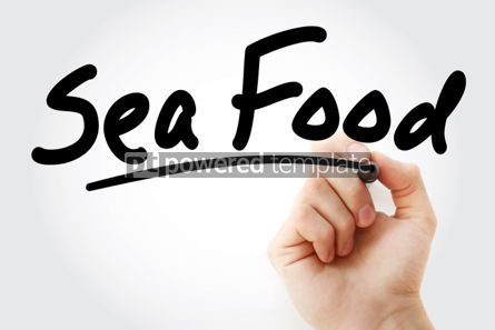 Business: Hand writing Sea Food with marker #01861