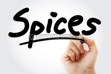 Business: Hand writing Spices with marker #01862