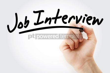 Business: Hand writing Job interview with marker #01864