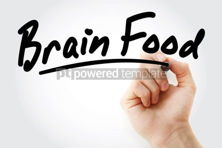 Business: Hand writing Brain Food with marker #01866