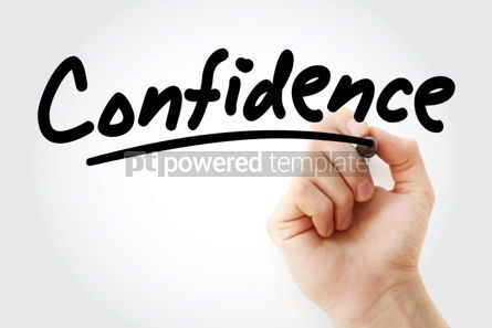 Business: Hand writing Confidence with marker #01867