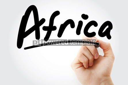 Business: Hand writing Africa with marker #01868