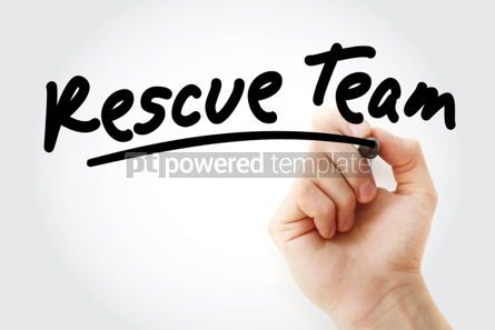 Business: Hand writing Rescue team with marker #01869