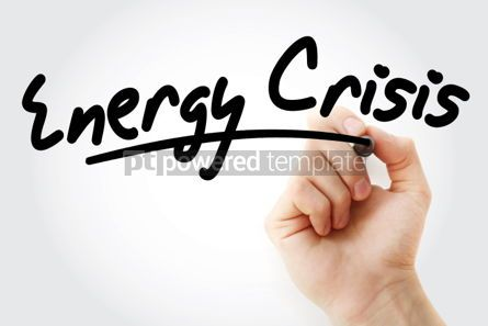 Business: Hand writing Energy crisis with marker #01873
