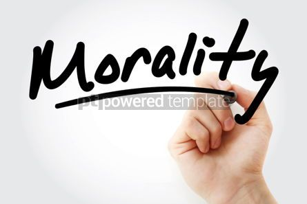 Business: Hand writing Morality with marker #01875