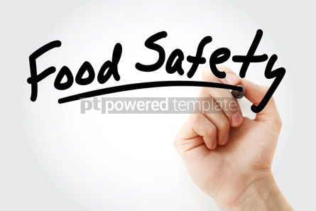 Business: Hand writing Food safety with marker #01880