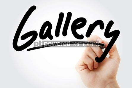 Business: Hand writing Gallery with marker #01881