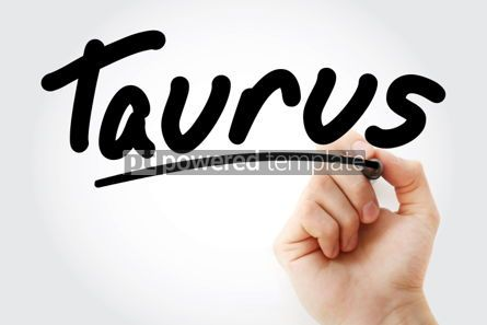 Business: Hand writing Taurus with marker #01882