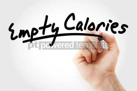 Business: Hand writing Empty calories with marker #01887